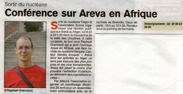 Article du Trégor du 11 Avril 2013