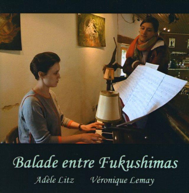 La jaquette du CD avec Adèle au chant et Véronique au piano.