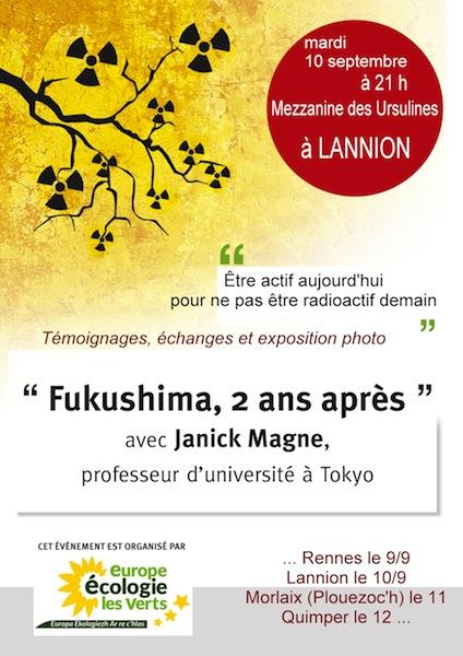 Affiche Lannion conf Fukushima - petite