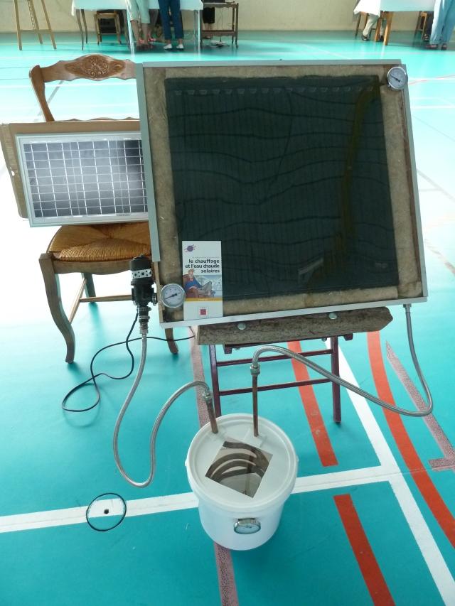 La maquette pédagogique du chauffe-eau solaire thermique