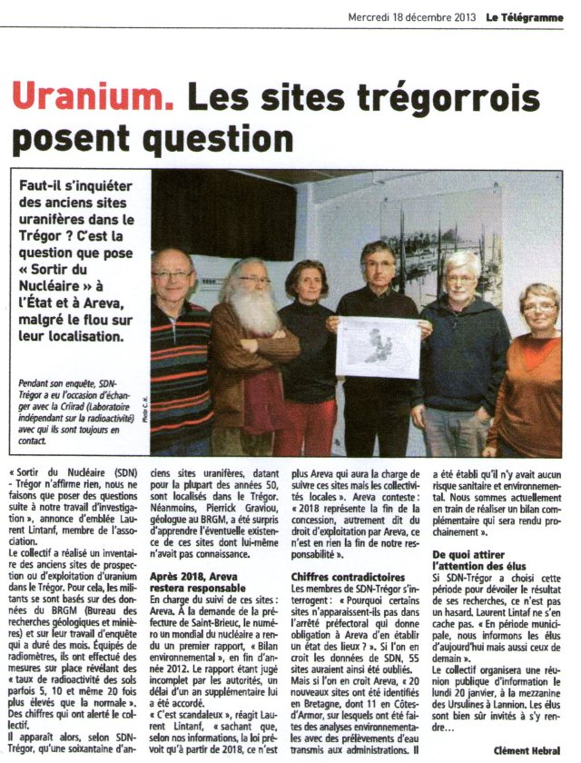 Le Télégramme 18-12-13 Page Bretagne