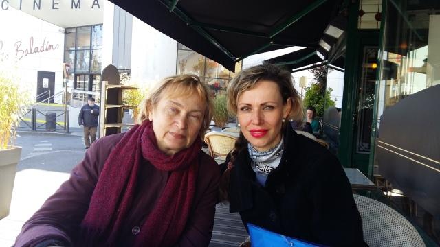 Natalia & Glacha à leur arrivée à Lannion
